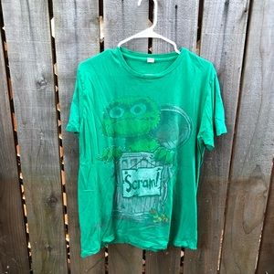Vintage Sesame Street Grouch Men's Shirt